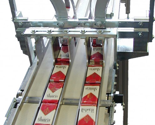 Conveying System for cigarette packs (2)