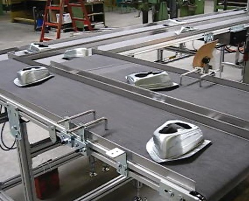 Conveyor punched parts