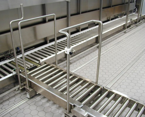 Roller Conveyor for Clean Rooms