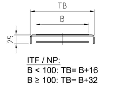 Trägerquerschnitt Gurtförderband ITF-NP