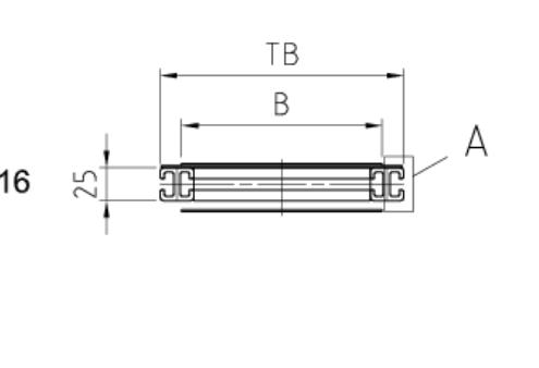 Trägerquerschnitt Gurtförderband ITF-P25