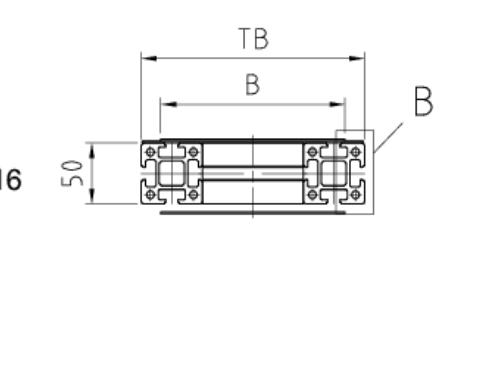 Trägerquerschnitt Gurtförderband ITF-P50