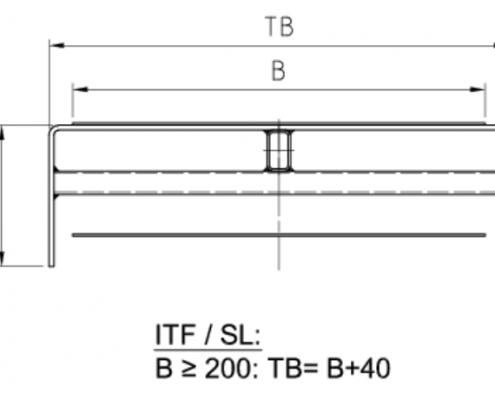Trägerquerschnitt Gurtförderband ITF/SL