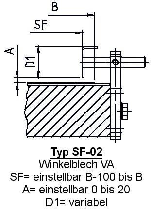 Zubehör Fördertechnik Seitenführung SF-02