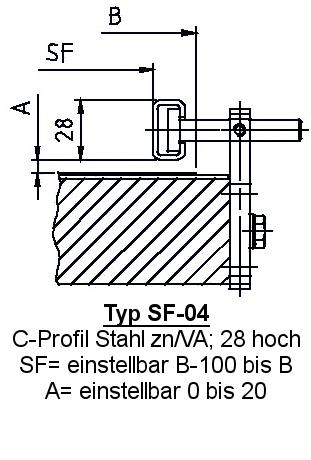 Zubehör Fördertechnik Seitenführung SF-04