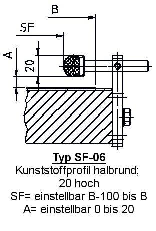 Zubehör Fördertechnik Seitenführung SF-06